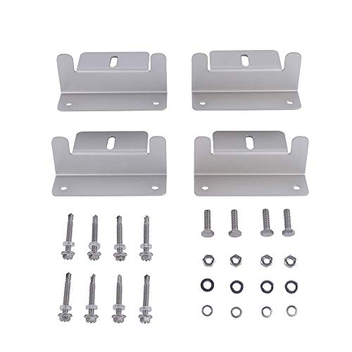 Betop-camp New Solar Panel Mount Mounting Z Bracket Set Kits for RV Boat Roof Off Grid Outdoor Camping Van Caravan with Nuts and Bolts ()