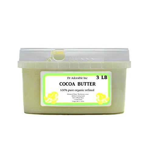 RAW Refined Cocoa Butter Fresh Organic Pure 48 Oz 3lb
