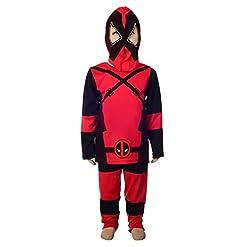 Dressy Daisy Boys Deadpool Wolverine Superhero Fancy Costume Mask Set Halloween Party