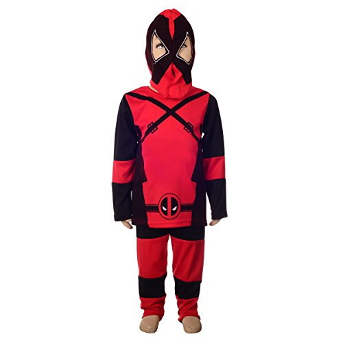 Dress Super Fancy Costumes (Dressy Daisy Boys' Deadpool Costume Fancy Dress Superhero Costume Mask Halloween Party Size)