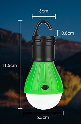 Emergency Light Lamp Lantern for Camping,Hiking,Fishing,Hunting,Backpacking, Mountaineering activities,Energy Class A+ Portable Outdoor Waterproof Tent LED Light Bulb Lumens