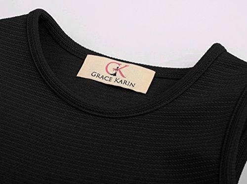 Cinturón Vestido 1 6 sin Cóctel Cl0482 Años 12 de Mangas de KARIN GRACE Verano Elegante Fiesta para con Niñas O1f5UwHq