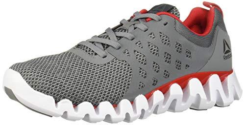 Reebok Men's Zig Pulse 3.0 Running Shoe Grey/red/White/Silver 10.5 M US