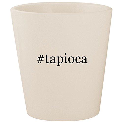 Seed Pearl Tapioca - #tapioca - White Hashtag Ceramic 1.5oz Shot Glass