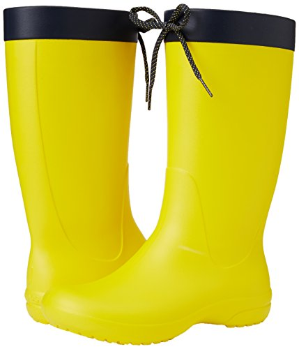 Crocs Women's Freesail Rain Boot, Lemon, 9 M US by Crocs (Image #6)