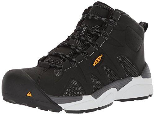 KEEN Utility Men's San Antonio Industrial Shoe, Black/Silver, 12 D US by KEEN Utility