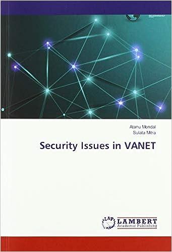 Livre gratuit pdf a telecharger Security Issues in VANET