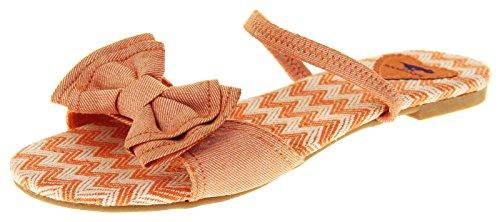 Womens Flat Rocket Dog Slingback Summer Sandals Size 5 6 Orange hiqLo