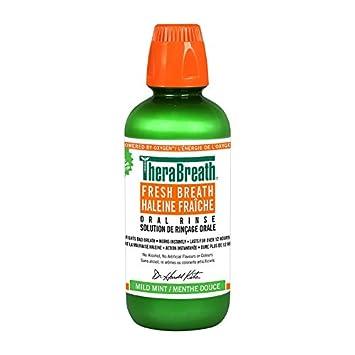 TheraBreath Dentist Recommended Fresh Breath Oral Rinse - Mild Flavor, 16 Ounce/473ML Thera Breath