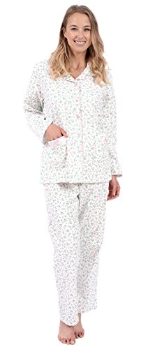 Patricia Women's Flannel Pajama Sleepwear Set (XXL, New Pink Floral)