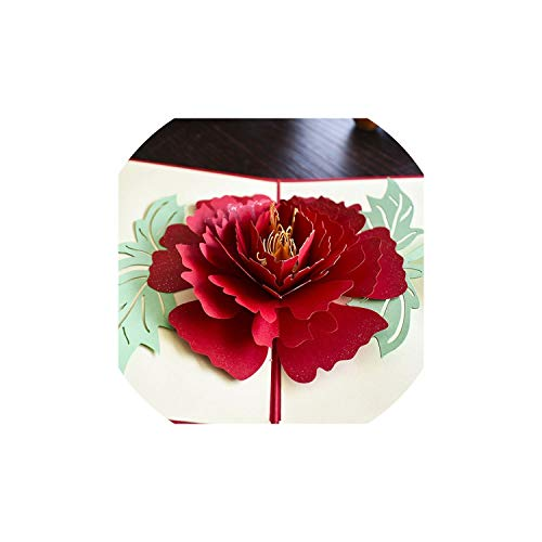 Greeting Cards3D Pop Up Cards Mothers Day Gifts Card I Love Mom Carnation Flowers Bouquet Greeting Cards for Mother Birthday - Mitzvah Bar Chai