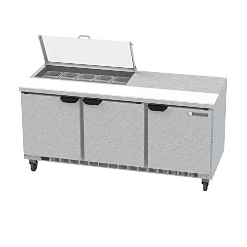 - Beverage Air SPE72HC-10-CL Elite Series Clear Lid Sandwich Top Refrigerated Counter, 72