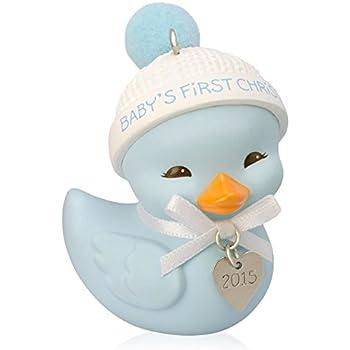 Amazon.com: Hallmark 2015 QGO1069 Baby Boy's First Christmas Cute ...