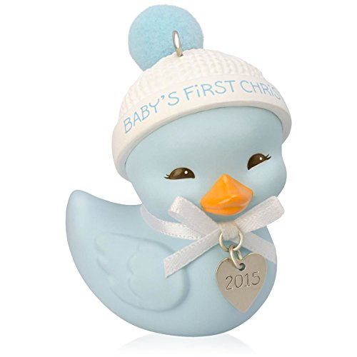Hallmark 2015 QGO1069 Baby Boy's First Christmas Cute Little Ducky