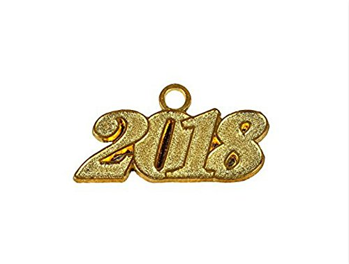 Graduation Cap Tassels with Free Moving Gold Year Charm 9-inch by YesGraduation (2018, Year (Graduation Cap Covers)