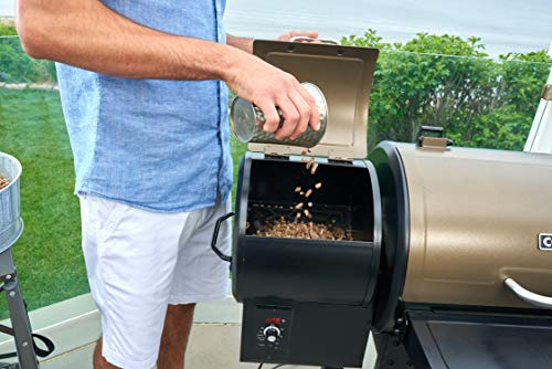 """Cuisinart CPG-4000 Wood BBQ Grill & Smoker Pellet Grill and Smoker, 45"""" x 49"""" x 39.4"""", Black"""