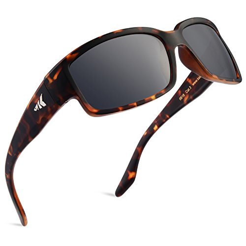 KastKing Skidaway Polarized Sport Sunglasses, Matte Demi Frame, Smoke Lens