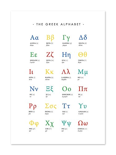 Greek alphabet poster (8x10). #A117 Greek Alphabet Print.Alphabet Poster for (Greek Alphabet)