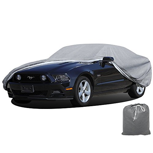 (OxGord Signature Car Cover - 100 Water-Proof 5 Layers - True Mastepiece - Ready-Fit Semi Glove Fit - Fits up to 204 Inches)