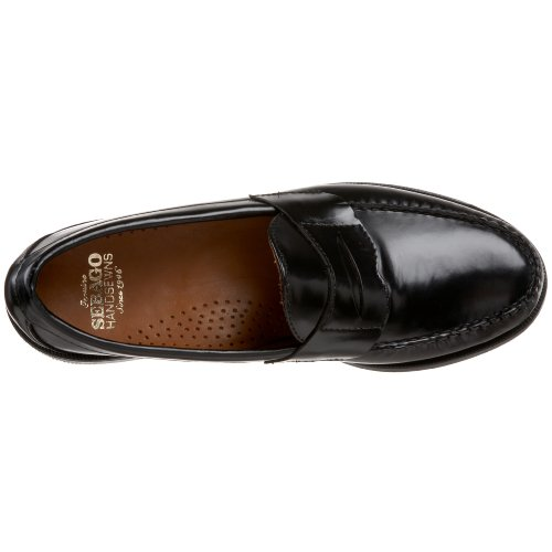 Sebago Mens Cayman Ii Mocassino Nero Brush-off