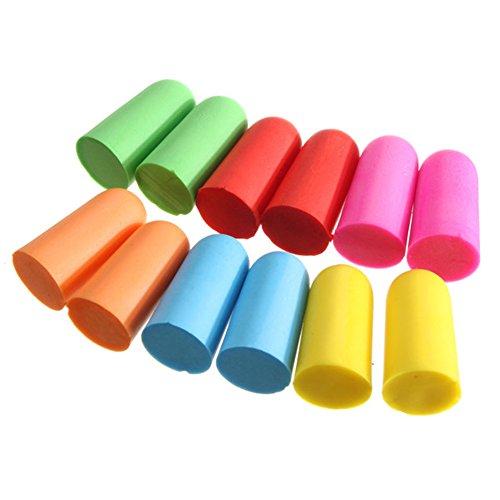 10 Pairs Assorted Color Soft Memory Foam Ear Plugs Sponge Travel Work Noise Reducer Earplugs Sleep Protection Ear Plugs