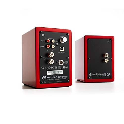 Audioengine A2+ Limited Edition Premium Powered Desktop Speaker Package (Red) With DS1 Desktop Speaker Stands by Audioengine (Image #2)