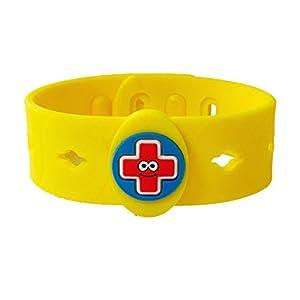 AllerMates Kids Medical Charm Wristband - Children's Medic Alert Awareness Bracelet - Band Only