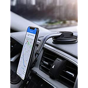 AUKEY Cell Phone Holder for Car 360 Degree Rotation Dashboard Magnetic Phone Mount
