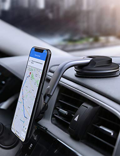 AUKEY Car Phone Mount 360 Degree Rotation Dashboard Magnetic Cell Phone Holder for Car Compatible with iPhone 11 Pro Max / 11 / XS Max / XS / 8 / 7 , Samsung Galaxy S10+, Google Pixel 3 XL, and More from AUKEY