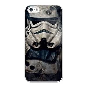 Grouden R Create and Design Phone Case,Stormtrooper Star Wars Cell Phone Case for iPhone 5 5S SE White + Tempered Glass Screen Protector (Free) GHL-5549312