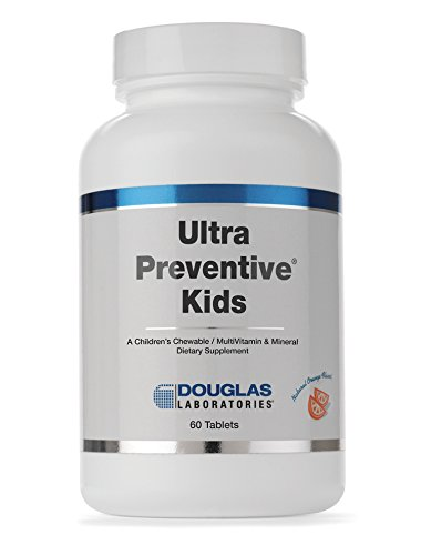 Douglas Laboratories - Ultra Preventive Kids - Chewable Multivitamin/Mineral/Trace Element Supplement for Children 4+ - Orange Flavor - 60 Tablets