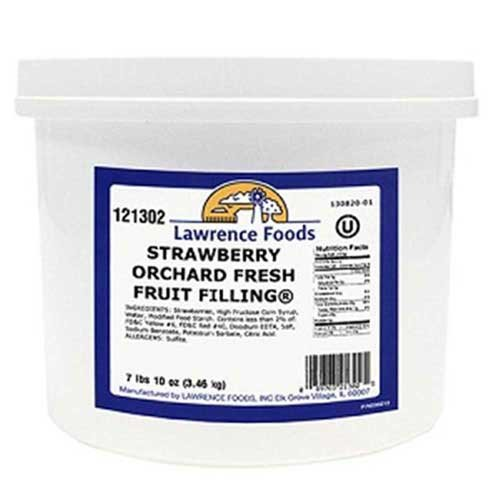 Strawberry Filling 4 Case .75 Gallon by Lawrence Foods (Image #1)