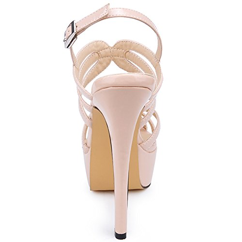 Wedding Strap Platform YAOYUE High Sandals Super Women's Ankle Nude Heels Shoes wxF87pxq