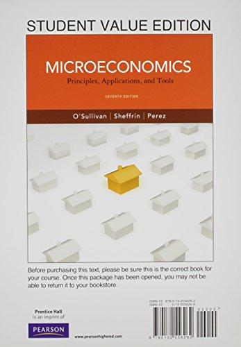 Microeconomics: Principles, Applications and Tools