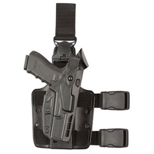 Safariland 7005 7TS SLS Tactical H&K VP9 Holster, Plain Black, Right