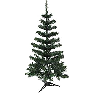 Holiday Essence 3 Foot Artificial Christmas Tree, Hinged 120 Tips Canadian Pine Tree, Solid Metal Stand for Indoor and Outdoor Holiday Decoration 109