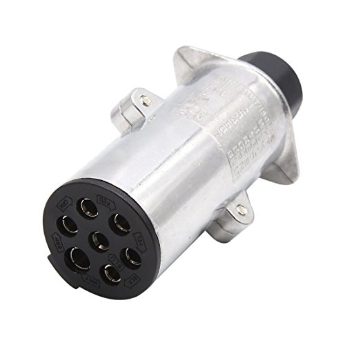 uxcell 7 Pin Aluminum Alloy Euro Socket Car Trailer TowBar Electric Connector DC 24V by uxcell (Image #3)