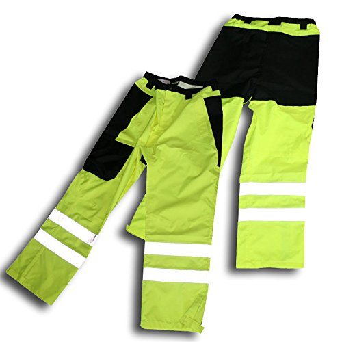 Class E Hi Vis Rain Pant With Black Accents (Medium)
