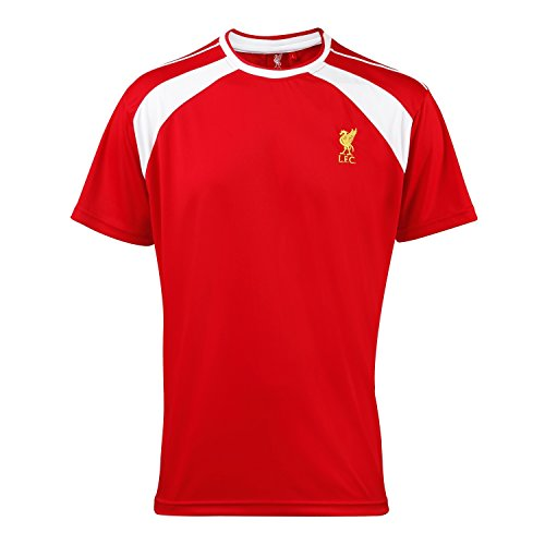 パッケージ松明水分リバプール フットボールクラブ Liverpool FC メンズ オフィシャル サッカー?フットサル パフォーマンスTシャツ 半袖トレーニングシャツ サッカーシャツ スポーツトップス フットボール 男性用