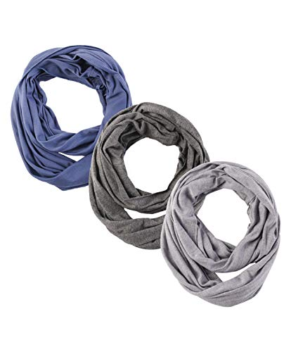 Boy Girl Infinity Loop Scarf - Soft Jersey Thin Lightweight Scarfs For Children Girl Boy 7-14 Year