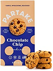 Partake Crunchy Cookies - Chocolate Chip | 2 Boxes | Vegan & Gluten Free | Free of Top 8 Allergens- Dairy Free, Nut Free, Eg