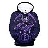 Duhud Teen Girls and Boys 3D Print Hoodie Unisex Pullover Sweatshirts 23 XXS