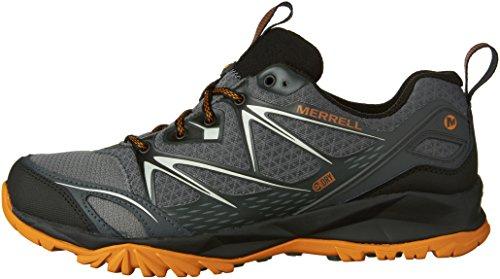 Merrell Men's Capra Bolt Waterproof Hiking Shoe, Grey/Orange, 9.5 M US by Merrell (Image #5)