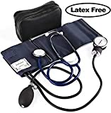 LotFancy Manual Blood Pressure Cuff, Aneroid Sphygmomanometer and Stethoscope Kit, Adult Sized Cuff(10'-16'), Blood Pressure Monitor Set with Stethoscope, Zipper Case Included