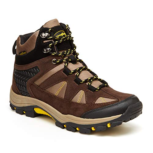 Goodyear Teton Skid-Resistant and Rust Proof Outdoor Men's Hiking Boots Brown/Yellow