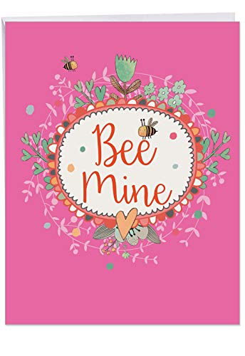 LET IT BEE' Happy Valentine's Day Card with Envelope (8.5