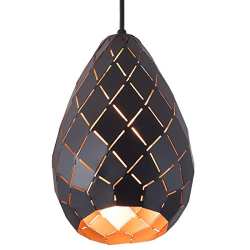 SAISHUO Pineapple Geometric Pendant Light Polyhedron Adjustable Chain 1 Light Chandelier for Kitchen Island, Bar, Hallway, Living Room, Dining Room