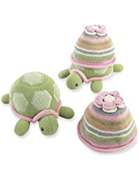 Turtle Toppers Baby Hat and Turtle Plush Gift Set, Pink (Discontinued by Manufacturer)