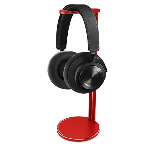 Headphone Stand, CROSS LINE Universal Aluminum Headphone Bracket, Stylish Headset Holder for Sennheiser, Sony, Audio-Technica, Bose, Shure, AKG, Panasonic Headphones and More (Red) - Elegant Bracket