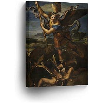 Amazon.com: St. Michael Slaying The Devil by Raphael Art ...